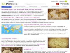 Fantastische wereldkaart posters nu te koop bij Tuinposter.nl